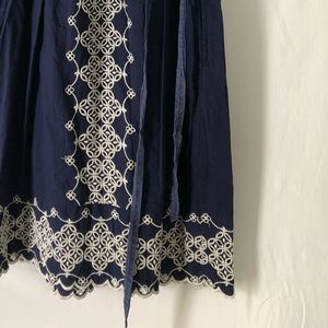 ANTHROPOLOGIE || Navy Embroidered Boho Dress